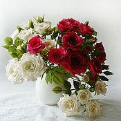 """Цветы и флористика ручной работы. Ярмарка Мастеров - ручная работа Букетик роз """"Комплимент"""". Handmade."""