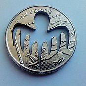 Украшения ручной работы. Ярмарка Мастеров - ручная работа SPECTRE. Джеймс Бонд 007 Кулон из монеты 10 пенсов. Handmade.