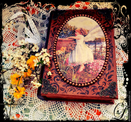 Шкатулка-фолиант `Ангельская сказка`