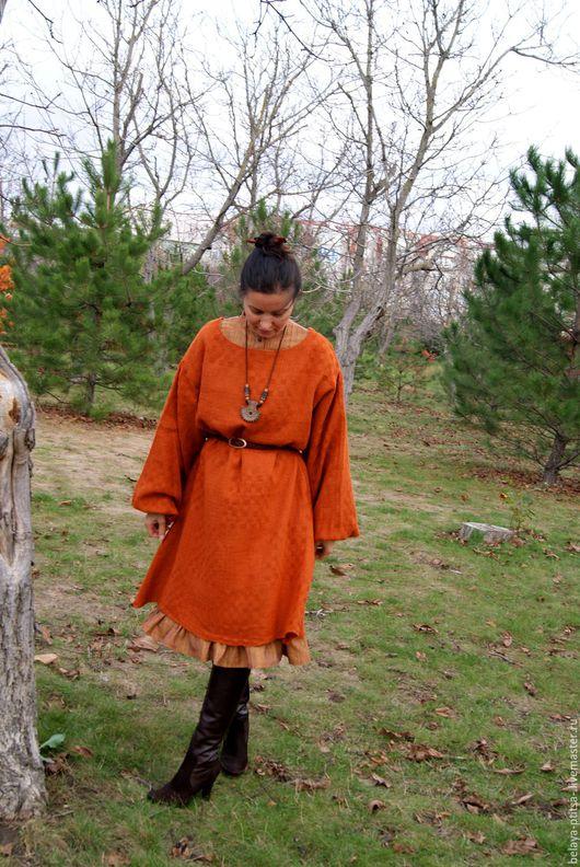 """Платья ручной работы. Ярмарка Мастеров - ручная работа. Купить Платье """"Один плюс один"""". Handmade. Рыжий, женщине, платье"""