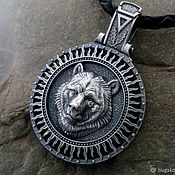 Украшения handmade. Livemaster - original item Pendant / Amulet Bear Veles Bear - Tree of the Kind from silver 925. Handmade.