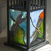 Для дома и интерьера ручной работы. Ярмарка Мастеров - ручная работа Фонарь витражный. Handmade.