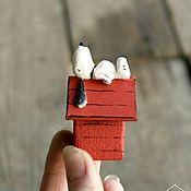 Мини фигурки и статуэтки ручной работы. Ярмарка Мастеров - ручная работа Маленький Снупи. Handmade.