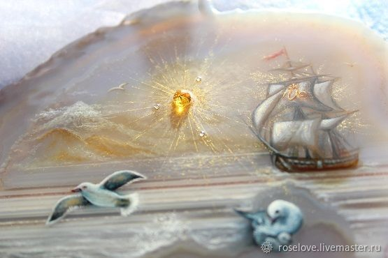 The stone mural of the sea painted ' solar boat ', Pictures, Moscow,  Фото №1