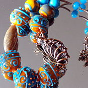 Украшения handmade. Livemaster - original item Arabesque necklace in lampwork technique. Handmade.