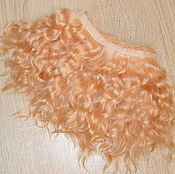 Материалы для творчества handmade. Livemaster - original item Mohair tress short hair (Muscat) (Hair for dolls). Handmade.