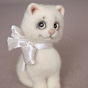 Куклы и игрушки handmade. Livemaster - original item Felted toy kitty. Handmade.