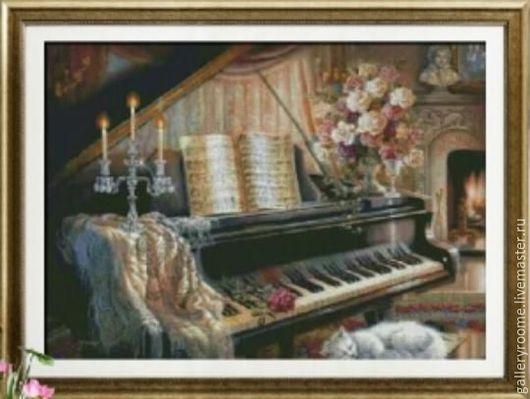 Другие виды рукоделия ручной работы. Ярмарка Мастеров - ручная работа. Купить Картина по номерам Рояль. Handmade. Рояль