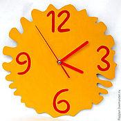 Для дома и интерьера ручной работы. Ярмарка Мастеров - ручная работа Яркие жёлтые часы. Handmade.