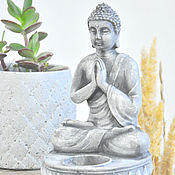 Для дома и интерьера handmade. Livemaster - original item Figurine-Buddha candle holder made of concrete, bronze, silver, stone. Handmade.