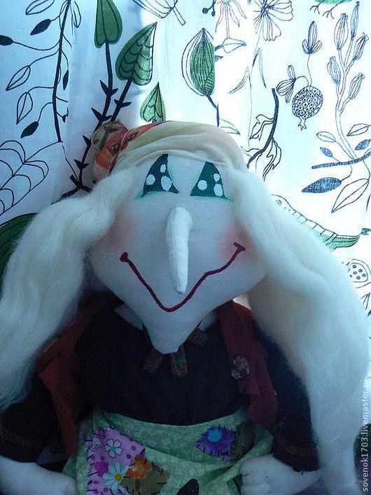 Человечки ручной работы. Ярмарка Мастеров - ручная работа. Купить Добрая баба Яга.. Handmade. Текстильная кукла, хлопок