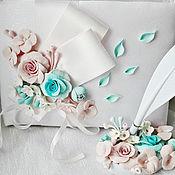 Свадебный салон ручной работы. Ярмарка Мастеров - ручная работа книга пожеланий, гостевая книга бирюзово-розовая. Handmade.