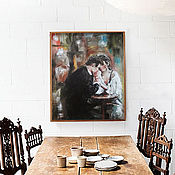 Картины и панно handmade. Livemaster - original item Date, oil painting on canvas, love, lovers. Handmade.