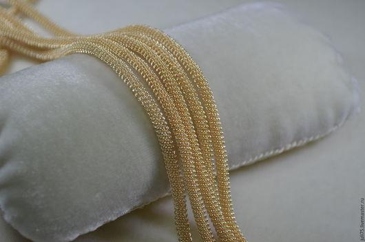 Вышивка ручной работы. Ярмарка Мастеров - ручная работа. Купить Канительный шнур, Индия. Handmade. Золотой, канительный шнур
