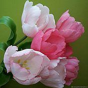 """Цветы ручной работы. Ярмарка Мастеров - ручная работа """"Краски Галландии"""" тюльпаны из полимерной глины. Handmade."""