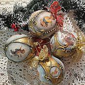 Подарки к праздникам ручной работы. Ярмарка Мастеров - ручная работа Елочные новогодние игрушки. Handmade.