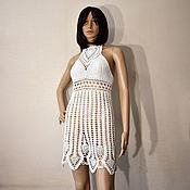 Одежда handmade. Livemaster - original item White Beach Sundress Crochet. Handmade.