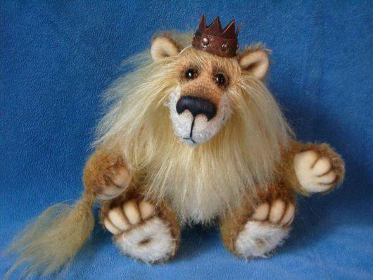 Игрушки животные, ручной работы. Ярмарка Мастеров - ручная работа. Купить Король - Лев. Handmade. Лев, шплинт, кожа