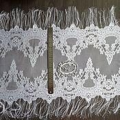 Материалы для творчества ручной работы. Ярмарка Мастеров - ручная работа Цена за 1,7м Кружево реснички 156 кружево с ресничками, шантильи. Handmade.