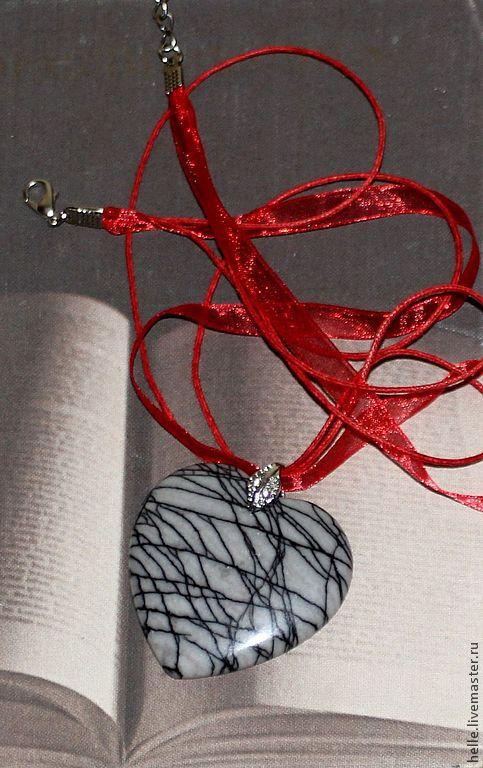 Кулоны, подвески ручной работы. Ярмарка Мастеров - ручная работа. Купить Кулон подвеска сердце из яшмы Пересечение судеб. Handmade.