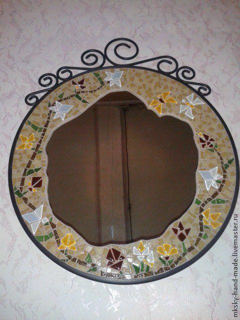 """Мозаичное зеркало """"Лоза"""" - оригинальное украшение Вашего интерьера и незабываемый подарок для Ваших друзей. Сделаю на заказ. MKsky. Мы дарим Вам тепло наших рук."""
