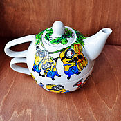 """Посуда ручной работы. Ярмарка Мастеров - ручная работа Чайный набор """"Миньоны"""" (0772). Handmade."""