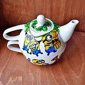 """Посуда ручной работы. Ярмарка Мастеров - ручная работа Чайный набор """"Миньоны"""". Handmade."""