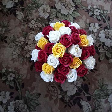 Цветы и флористика ручной работы. Ярмарка Мастеров - ручная работа Цветы: Букеты из мыльных цветов. Handmade.