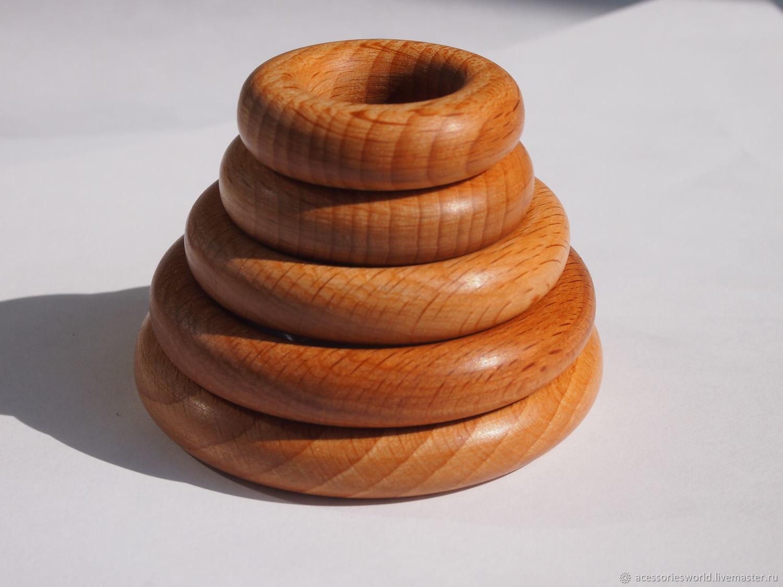 Кольца деревянные, Бусины, Санкт-Петербург,  Фото №1