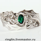 Украшения handmade. Livemaster - original item Ring with chrysolite. A Series Of
