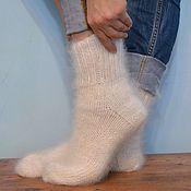 Аксессуары handmade. Livemaster - original item White down socks