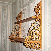 Для дома и интерьера ручной работы. Ярмарка Мастеров - ручная работа Полка двухъярусная. Handmade.