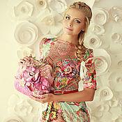 Одежда ручной работы. Ярмарка Мастеров - ручная работа Яркое шелковое платье на каждый день. Handmade.
