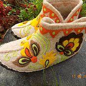 """Обувь ручной работы. Ярмарка Мастеров - ручная работа Тапочки """"Позитив"""". Handmade."""