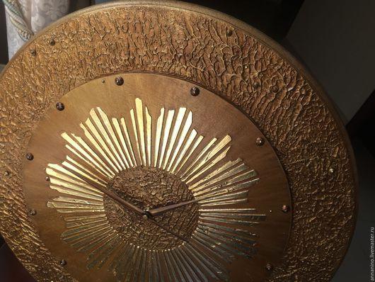 Часы для дома ручной работы. Ярмарка Мастеров - ручная работа. Купить Часы настенные Солнце - диаметр 50 см!!!. Handmade.