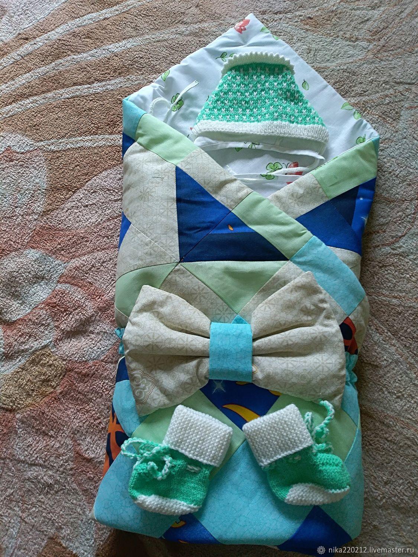 2 в 1 одеяло+конверт на выписку. Комплект, Конверты, Иркутск, Фото №1