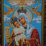Подарки к праздникам ручной работы. Ярмарка Мастеров - ручная работа Икона Богородица Милующая. Handmade.