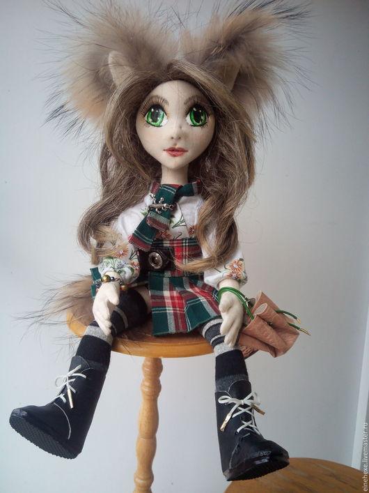 Куклы и игрушки ручной работы. Ярмарка Мастеров - ручная работа. Купить Кицунэ (девочка-лисичка) текстильная кукла ручной работы. Handmade.