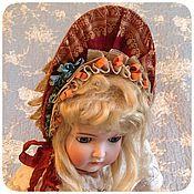 Куклы и игрушки ручной работы. Ярмарка Мастеров - ручная работа Капор для французкой антикварной куклы. Handmade.