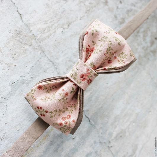 Галстуки, бабочки ручной работы. Ярмарка Мастеров - ручная работа. Купить Галстук- бабочка цветочная. Handmade. Кремовый, бабочка для жениха