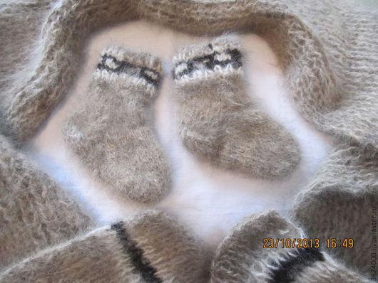 Носки, гольфы, гетры ручной работы. Ярмарка Мастеров - ручная работа. Купить носочки детские  на 1,5 года из соб. шерсти №41. Handmade.