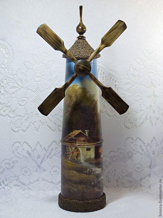 """Персональные подарки ручной работы. Ярмарка Мастеров - ручная работа. Купить Короб для бутылки """"Голландия"""". Handmade. Короб, подарок женщине"""