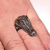 Кольца ручной работы. Ярмарка Мастеров - ручная работа Кольцо крокодил. Handmade.