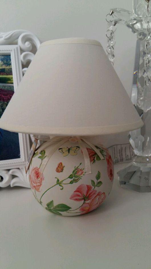 """Освещение ручной работы. Ярмарка Мастеров - ручная работа. Купить Лампа """"Нежность"""". Handmade. Белый, лампа настольная, подарок девушке"""