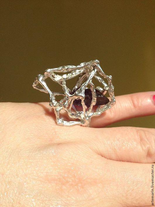 Кольца ручной работы. Ярмарка Мастеров - ручная работа. Купить Кольцо из серебра 925 пробы фантазийной формы ( коктейльное кольцо). Handmade.