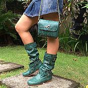 Обувь ручной работы handmade. Livemaster - original item A set of Python. The boots and handbag. Handmade.