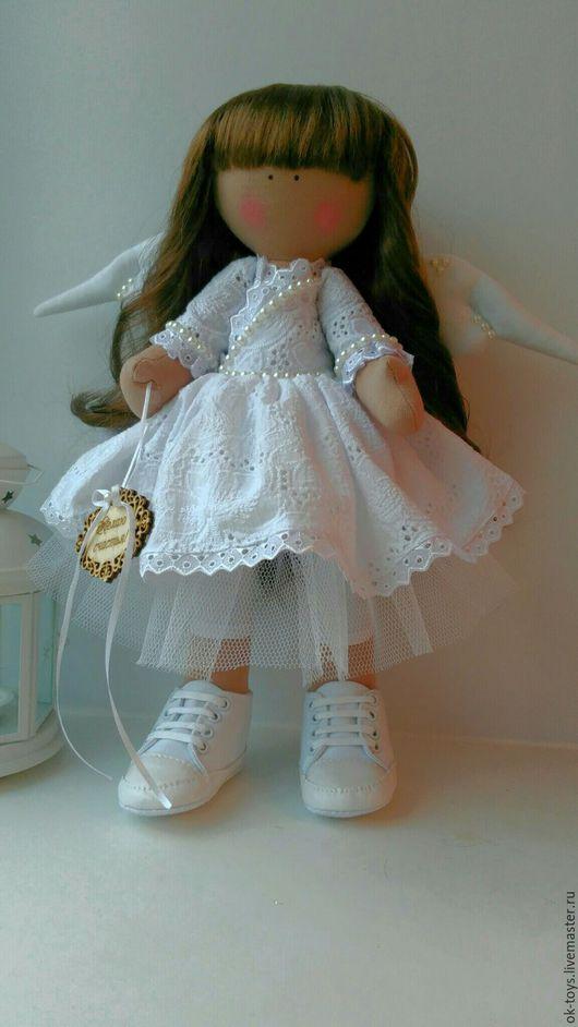 Коллекционные куклы ручной работы. Ярмарка Мастеров - ручная работа. Купить Ангел,куколка большеножка. Handmade. Белый, ангелочек, кеды