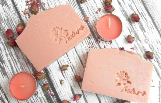натуральное мыло, мыло ручной работы, розовый, роза, подарок женщине, подарок девушке