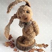 Куклы и игрушки ручной работы. Ярмарка Мастеров - ручная работа Заяц-тедди Листопадик. Handmade.