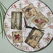 """Для дома и интерьера ручной работы. Ярмарка Мастеров - ручная работа Часы """"Письма из Парижа"""". Handmade."""